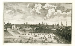 Passeggio pubblico della Cittadella, incisione. © Archivio Storico della Città di Torino