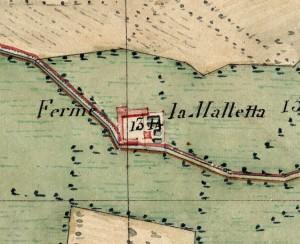 Cascina Maletta. Catasto Napoleonico, 1805. © Archivio di Stato di Torino