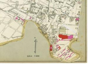 Danni arrecati agli stabili 1:5000, 1942-1945. Zona 9: Borgate Ceronda e Lucento. ASCT, Tipi e disegni, cart. 68, fasc. 2 disegno 9 – quadrante 2. © Archivio Storico della Città di Torino