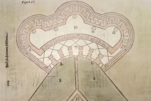 Pianta del Pastiss pubblicata in BUSCA 1601.