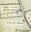 Cascina Morozzo. Amedeo Grossi, Carta Corografica dimostrativa del territorio della Città di Torino, 1791. © Archivio Storico della Città di Torino