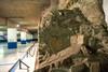 Intervento moderno sulla parete di un edificio pubblico romano esterno alle mura nel parcheggio sotterraneo di piazza Emanuele Filiberto. Fotografia di Marco Saroldi, 2010. © MuseoTorino