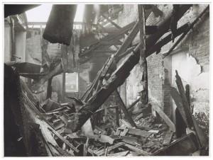Villa della Regina. Effetti prodotti dal bombardamento dell'incursione aerea del 20-21 novembre 1942. UPA 2202_9B06-32. © Archivio Storico della Città di Torino