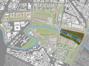 Individuazione del lotto Valdocco. Parco Dora - Spina 3  - Città di Torino.