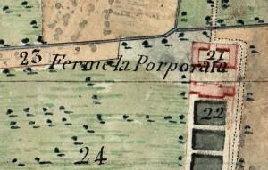 Cascina Porporata. Catasto Napoleonico, 1805. © Archivio di Stato di Torino