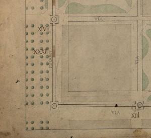 Tratto delle mura della città romana su corso Siccardi