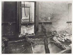 Via dell'Accademia Albertina, 6. Palazzo dell'Accademia Albertina. Effetti prodotti dai bombardamenti dell'incursione aerea dell'8-9 dicembre 1942. UPA 2614_9C03-45. © Archivio Storico della Città di Torino