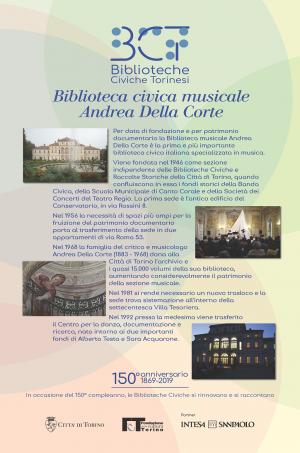 1869-2019. Biblioteca civica musicale Andrea Della Corte