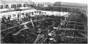 Via Cigna 115. Stabilimento FIAT, Sezione Ind. Metallurgiche (S.I.M.A.). Effetti prodotti dai bombardamenti dell'incursione aerea del 8-9 dicembre 1942. UPA 2459D_9F02-30. © Archivio Storico della Città di Torino