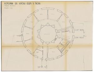 Rotonda ex Scuola Elementare V. Troia, pianta piano terreno, scala 1:100, senza data (ASCT, Tipi e disegni, cart. 14, fasc.7, n.18A) © Archivio Storico della città di Torino