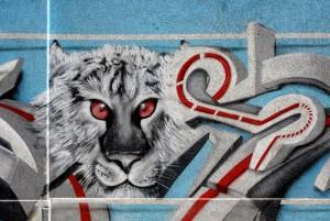 Kasy23, murale senza titolo, via Rocciamelone 1, MAU Museo Arte Urbana. Fotografia di Roberto Cortese, 2017 © Archivio Storico della Città di Torino