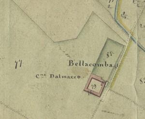 Cascina Bellacomba. Catasto Gatti, 1820-1830. © Archivio Storico della Città di Torino