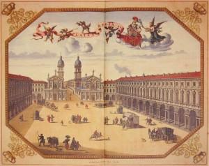 Piazza San Carlo nella tavola del Theatrum Sabaudiae, 1674 (da Theatrum Sabaudiae, I).