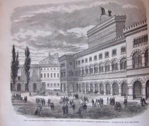 Palazzo provvisorio per il Parlamento italiano a Torino, da