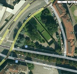 Vista aerea del Sacrario del Martinetto, 2010. © Google Maps