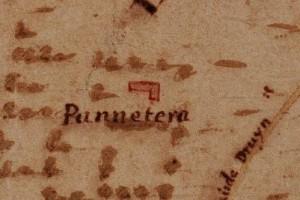 Cascina Panatera. La Marchia, Carta della Montagna, 1694-1703. © Archivio di Stato di Torino.