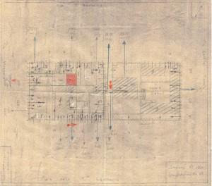 Bombardamenti aerei. Censimento edifici danneggiati o distrutti. ASCT Fondo danni di guerra inv. 1880 cart. 39 fasc. 13. © Archivio Storico della Città di Torino