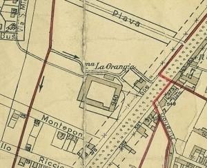 Cascina La Grangia, già Lagrange. Pianta di Torino, 1935. © Archivio Storico della Città di Torino