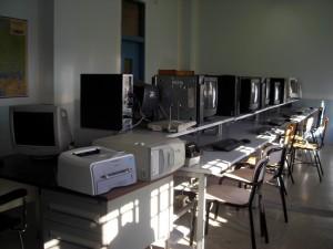 Casa Circondariale Lorusso Cutugno, aula di informatica. Fotografia di Silvia Bertelli