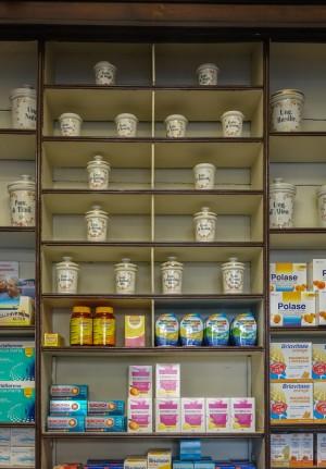 Farmacia Almasio, particolare dell'arredo, 2017 © Archivio Storico della Città di Torino