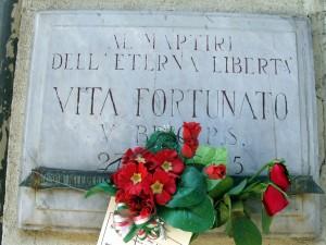 Lapide dedicata a Fortunato Vita (1887 - 1945)