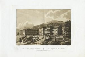 Veduta di Villa della Regina. Litografia da disegno di Nicolosino, 1827. © Archivio Storico della Città di Torino.