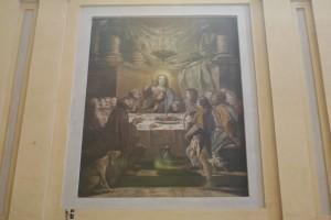 Charles Andrée van Loo (1705-1765), Ultima cena, 1732-1733, affresco nel coro della chiesa di Santa Croce. Fotografia di Francesca Romana Gaja, 2011-2012