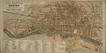 Pianta topografica della città di Torino con le linee di trasporto pubblico, 1910 circa