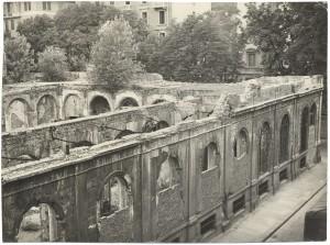 Biblioteca civica Centrale, via della Cittadella, ante 1958. Biblioteca civica Centrale © Biblioteche civiche torinesi