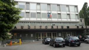 Facciata principale e ingresso dell'Auditorium. Fotografia di Dario Rosso, 2011. © MuseoTorino