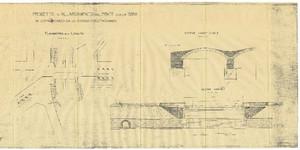 Progetto di ampliamento del Ponte Ramello realizzato nel 1924. © Archivio Storico della Città di Torino