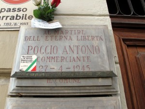Lapide dedicata ad Antonio Poggio (1900 - 1945)