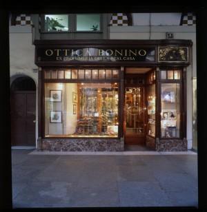 Ottica Bonino, ex Mira profumeria, esterno, 1998 © Regione Piemonte