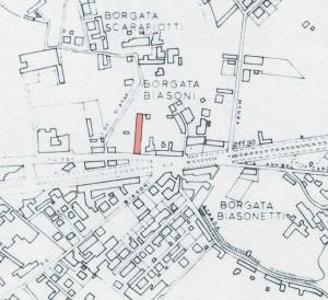 Cascina Biasone. Istituto Geografico Militare, Pianta di Torino, 1974. © Archivio Storico della Città di Torino