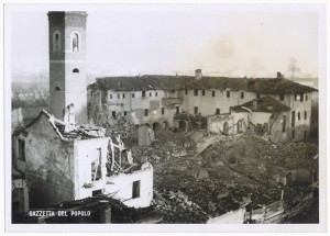 Chiesa Madonna di Campagna, Via Cardinale Massaia 98. Effetti prodotti dai bombardamenti dell'incursione aerea dell'8-9 dicembre 1942. UPA 2814D_9D01-19. © Archivio Storico della Città di Torino