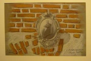 Alfredo Negro, Castello del Drosso, Stemma gentilizio, 1995, acquerello