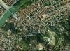 """Fotografia aerea della zona compresa fra la """"Villa della Regina"""", il Monte dei Cappuccini e l'ex Istituto Nazionale delle Figlie dei Militari."""