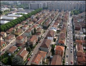 Veduta aerea della Città giardino di Mirafiori Nord. Fotografia di Michele D'Ottavio, 2011. © MuseoTorino