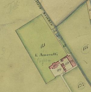 Cascina Amoretti. Catasto Gatti, 1820-1830. © Archivio Storico della Città di Torino
