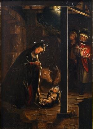 Defendente Ferrari (1480/1485 – post 1540), Adorazione del Bambino (Natività notturna), 1510, tavola, cm 27x37. Torino, Museo Civico d'Arte Antica e Palazzo Madama, inv. 0512/D