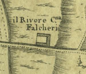 Cascina del Rivore. Amedeo Grossi, Carta Corografica dimostrativa del territorio della Città di Torino, 1791. © Archivio Storico della Città di Torino