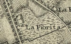 Cascina La Marchesa, già La Florita. Francesco De Caroly, Carta topografica dimostrativa, 1785, ©Archivio di Stato di Torino