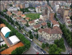 Veduta aerea del quartiere. Fotografia di Michele D'Ottavio, 2011. © MuseoTorino