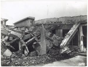 FIAT Lingotto Via Nizza (?). Effetti prodotti dai bombardamenti dell'incursione aerea dell'8-9 dicembre 1942. UPA 2844D_9D02-05. © Archivio Storico della Città di Torino