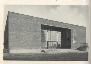 Gruppo rionale Corridoni, prospetto principale. Da «Architettura», n. 2, febbraio, 1938