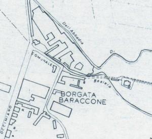 Cascina Baraccone. Istituto Geografico Militare, Pianta di Torino, 1974. © Archivio Storico della Città di Torino