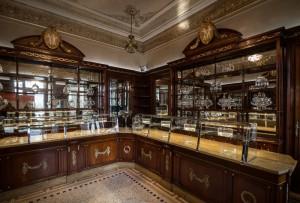 Platti Caffè Confetteria, la sala confetteria di fine Ottocento, 2017 © Archivio Storico della Città di Torino