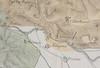 Stralcio della carta del 1877 di Calandra. In arancione chiaro è riportata l'area, che, secondo l'autore, era occupata dalla morena scomparsa