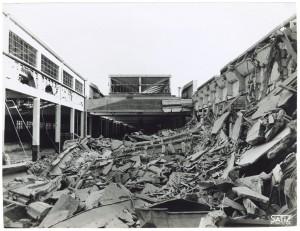 FIAT Autocentro - Stabilimento di Mirafiori. Effetti prodotti dal bombardamento dell'incursione aerea del 20-21 novembre 1942. UPA 2202_9B06-26. © Archivio Storico della Città di Torino