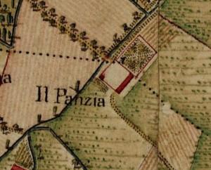 Cascina Pansa.  Carta Topografica della Caccia, 1760-1766 circa, © Archivio di Stato di Torino